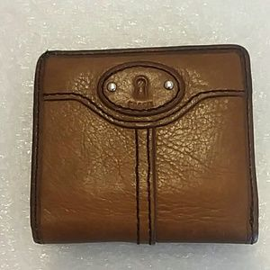 FOSSIL Brown Leather Mini Wallet